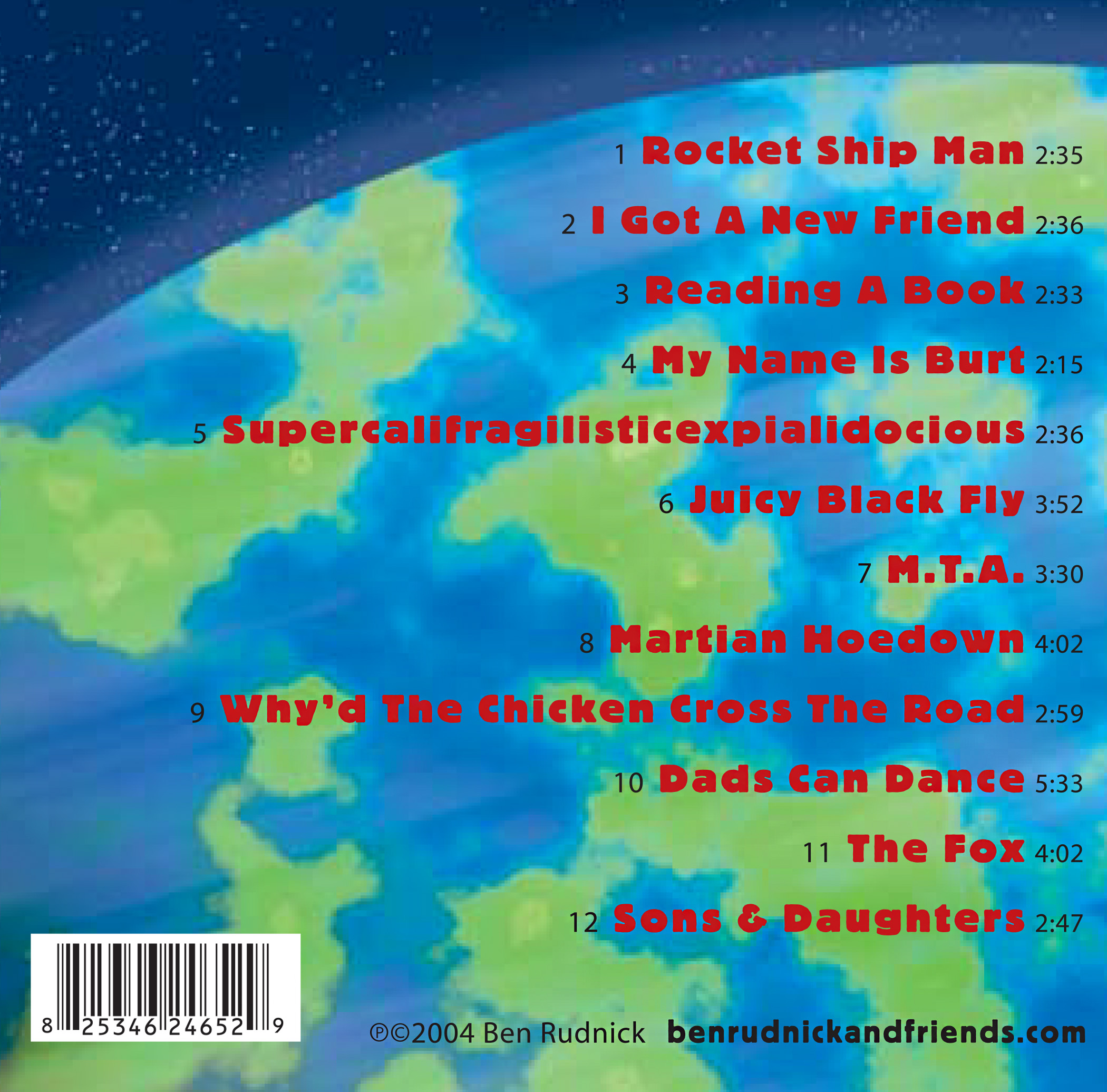 Blast Off! back cover