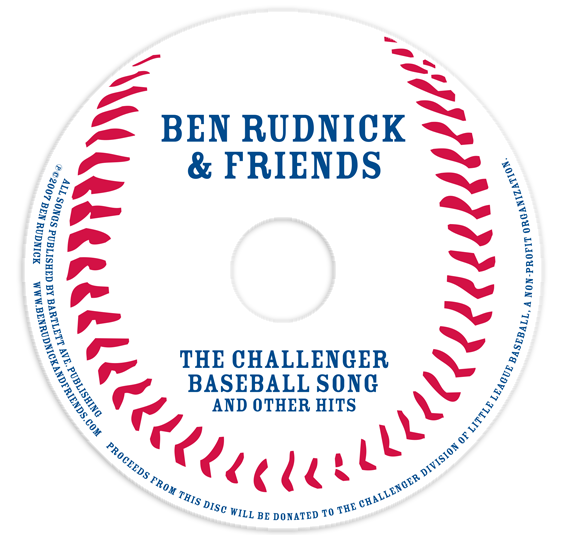 The Challenger Baseball Song CD art