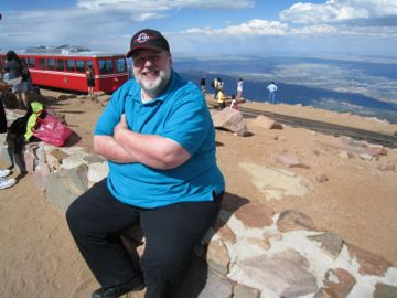 John Zevos on Pike's Peak, Colorado