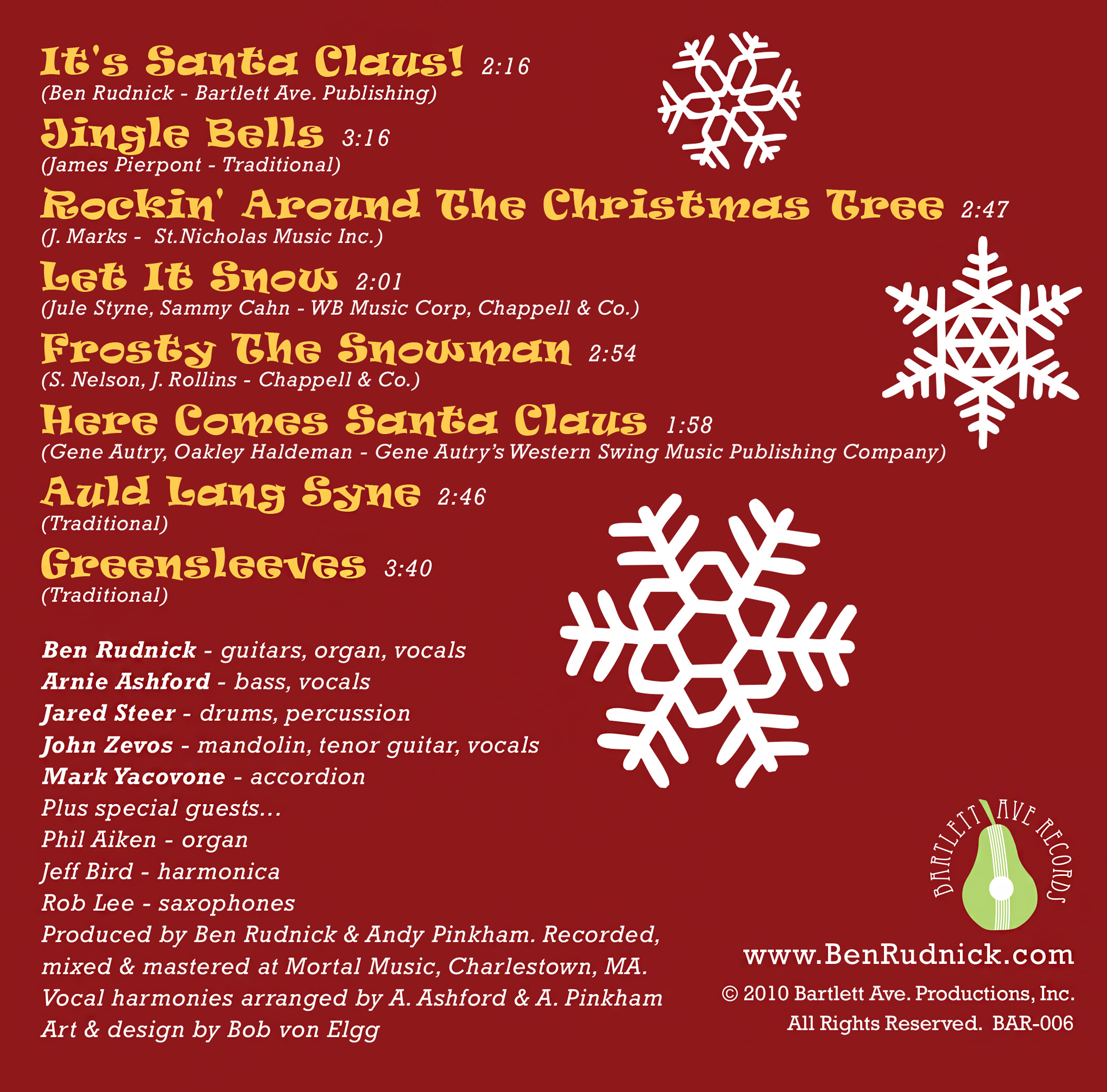 It's Santa Claus! CD back cover